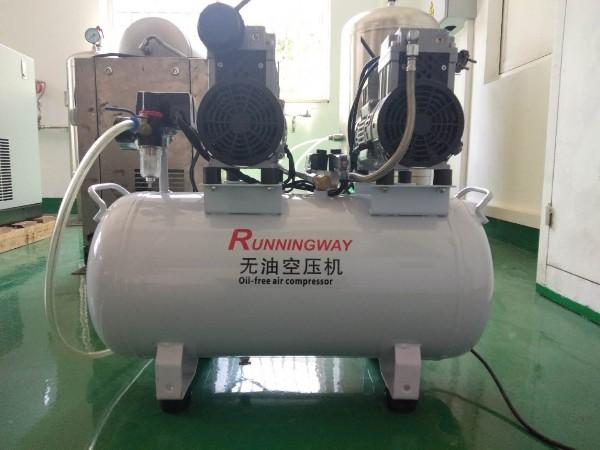 实验室静音无油活塞式空压机测试完成